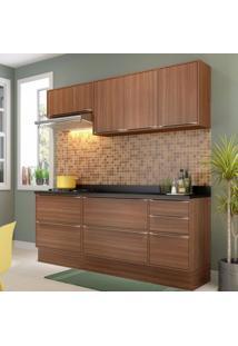 Cozinha Completa 7 Módulos 7 Portas Calábria Multimóveis Nogueira