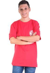 Camiseta Gang 76 Silk Frente E Costas Vermelha