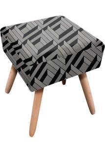 Puff Ibiza Quadrado Estampado Labirinto D106 - D'Rossi