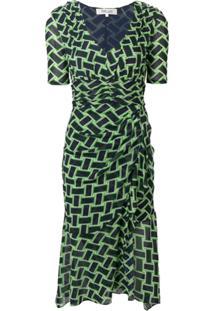 46c905c11 ... Dvf Diane Von Furstenberg Vestido 'Farrell' Estampado - Verde