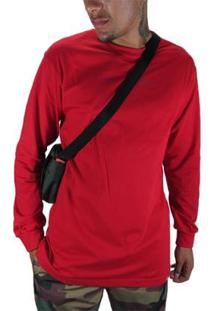 Camiseta Outlawz Longsleeve Featured - Masculino-Vermelho