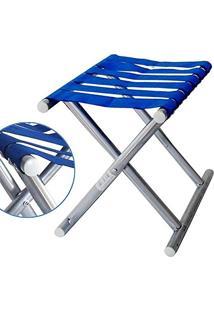 Banquinho Cadeira Dobravel Aluminio Banco Pesca Camping (937-1-40)