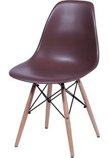 Cadeira Eames Com Base Em Madeira 46X46,5Cm Café