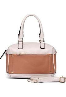 Bolsa Nice Bag Handbag Alça Transversal Removível Feminina - Feminino-Nude