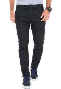 Calça Jeans Occy Slim Social Vip Azul-Marinho