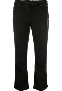 Love Moschino Cropped Skinny Fit Jeans - Preto