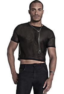 Camiseta Synchron Cropped All Open Preta