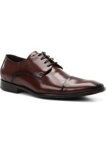 Sapato Social Couro Shoestock Tradicional Romana Masculino - Masculino-Café