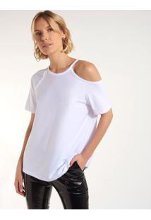 Camiseta Rosa Chá Cissa Ii Malha Branco Feminina (Branco, P)