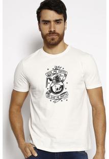 """Camiseta """"Caveira""""- Off White & Preta- Guessguess"""