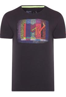 Camiseta Masculina Mtv Tv - Cinza