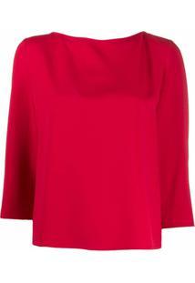 Emporio Armani Blusa Com Pregas Na Parte Posterior - Vermelho
