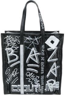 Balenciaga Bolsa Tote Bazar - Preto