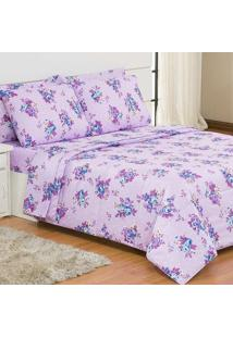 Edredom Queen Casuale Petit Floral Lilac