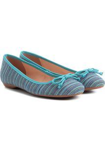 Sapatilha Shoestock Estampada Feminina - Feminino-Azul Turquesa
