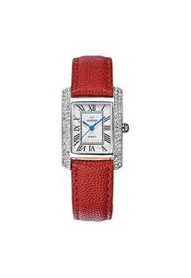 Relógio Feminino Wwoor 8806 - Vermelho E Prata