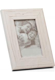 Porta Retrato Em Madeira Juquey 15X10Cm Branco