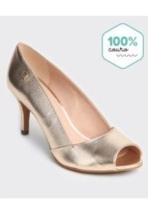 Peep Toe Adulto Metal Gold - Loucos & Santos. - 33