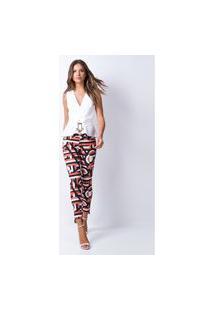 Calça Skinny Diana Lança Perfume Jeans Laranja