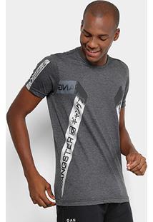 Camiseta Gangster Estampada Masculina - Masculino-Preto