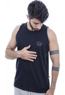 Camiseta Hardivision Simple Sem Manga - Masculino-Preto