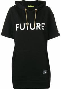 Versace Jeans Couture Suéter Com Capuz - Preto