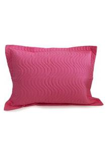 Porta Travesseiro Avulso Matelado - Appel - Rosa Pink