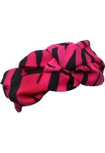 Faixa De Cabelo Smm Acessorios Rosa Pink E Preto - Tricae