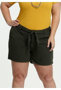 Short Feminino Sarja Clochard Plus Size