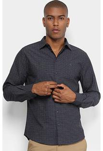 Camisa Forum Slim Fit Masculina - Masculino-Chumbo
