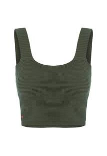 Blusa Feminina Cropped Ódeon - Verde
