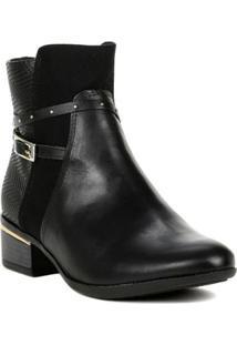 Bota Ankle Boots Feminina Comfortflex Preto