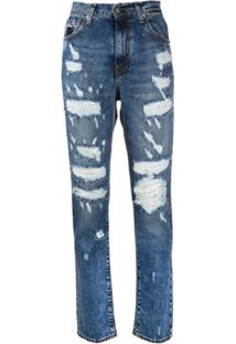 John Richmond Calça Jeans Slim Com Cintura Alta - Azul