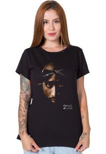 Camiseta Stoned Face 2Pac Preto - Kanui