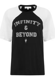 Camiseta Feminina Devore Silk Ava - Preto