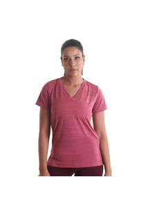 Camiseta Gola V Mescla - Rosa Claro - Líquido