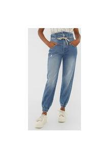 Calça Jeans Colcci Jogger Suki Azul