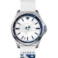 36a354c8adb Relógio Lacoste Masculino Borracha Branca - 2010942