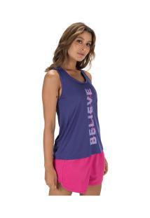Camiseta Regata Oxer Sportwear - Feminina - Azul Escuro