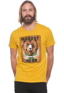 Camiseta Colcci Monday Mood Amarela