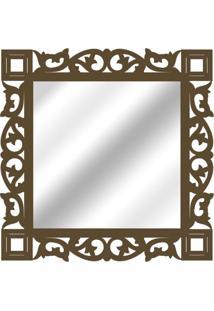 Espelho De Parede 14881I Marrom 70X70 Art Shop