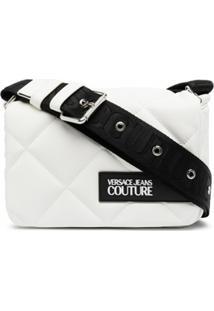 Versace Jeans Couture Bolsa Tiracolo Matelassê Com Patch De Logo - Branco