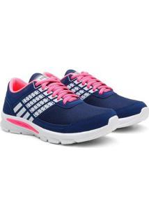 Tênis Caminhada Feminino Confortável Leve Macio Esporte Feminino - Feminino-Azul Escuro