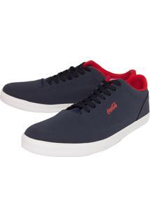 Sapatênis Coca Cola Shoes Pespontos Azul