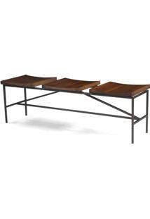 Banco Trilogy Metal Grafite Rustic Brown 1,40 Mt (Larg) - 44996 Sun House