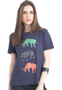 Camiseta Tri Cheetah 41Onze Marinho - Kanui