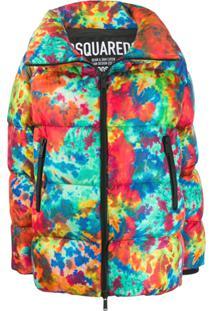 Dsquared2 Printed Puffer Jacket - Vermelho