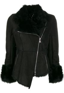 Patrizia Pepe Asymmetric Fitted Jacket - Preto