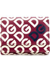 Dolce & Gabbana Carteira Dauphine Dg Pequena Com Logo - Vermelho