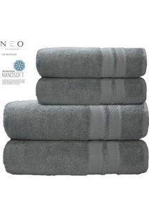 Toalha De Banho Gigante Neo Allure- Cinza Claro- 80Xcamesa